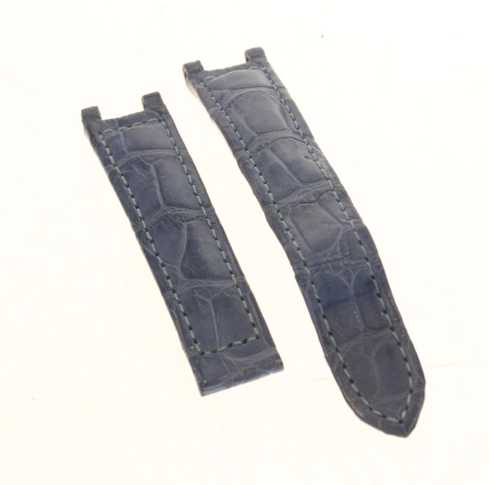 ★良品★【CARTIER】カルティエ 15mm ブルー レディース 腕時計用 革ベルト【中古】
