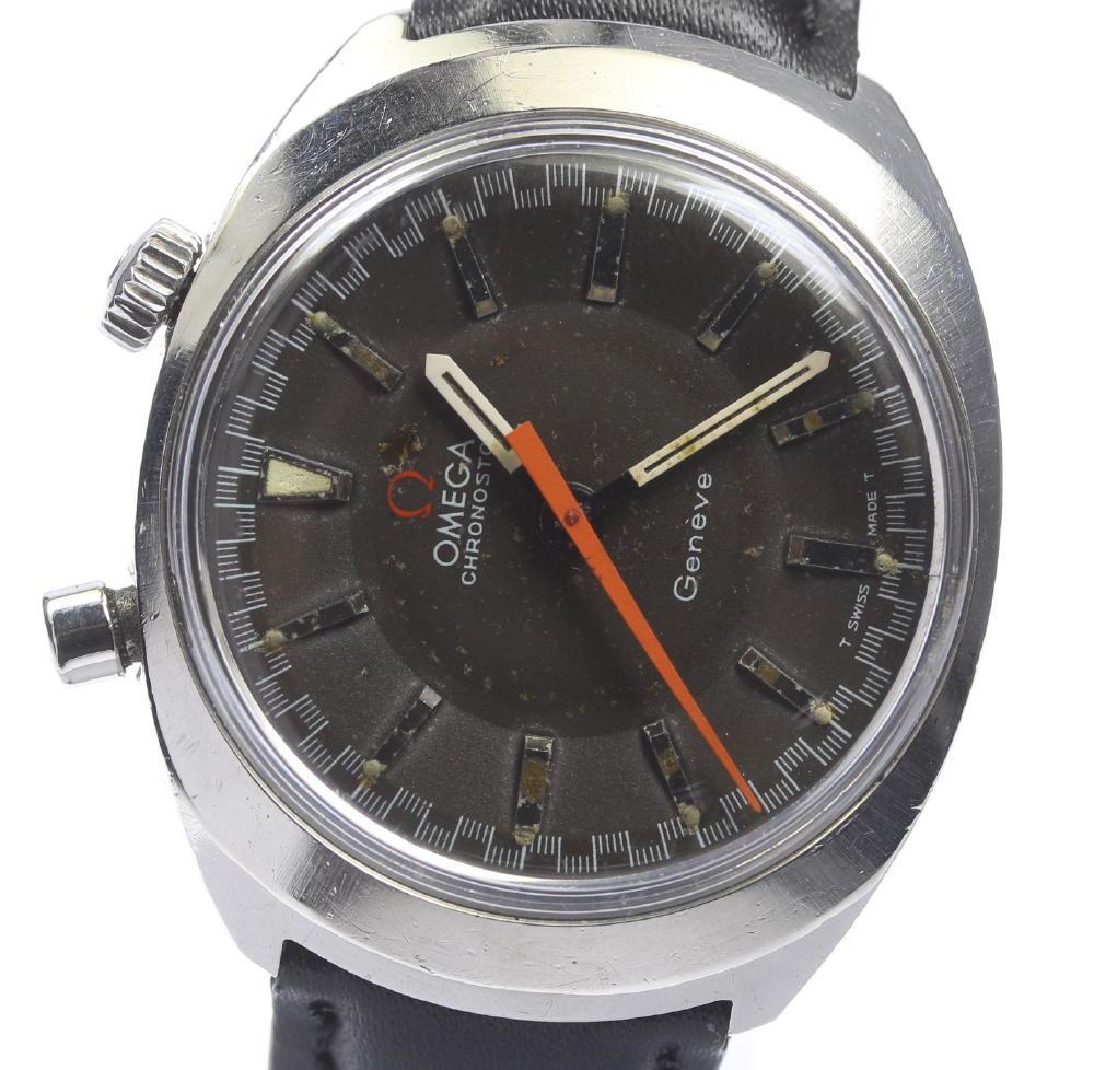 【OMEGA】 オメガ シーマスター クロノストップ 社外革ベルト 手巻き Cal.865 メンズ【中古】