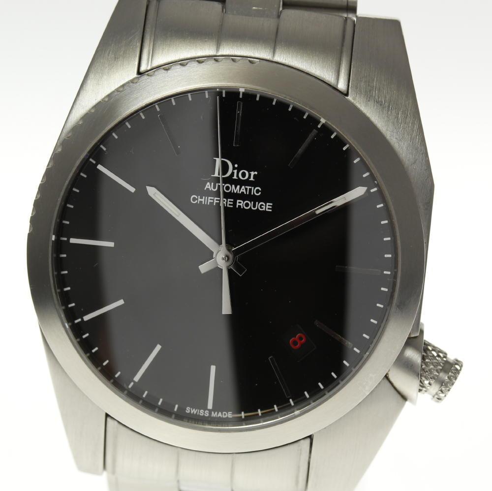 【Dior】ディオール シフルルージュ CD084510 ブラック文字盤 自動巻き メンズ【中古】