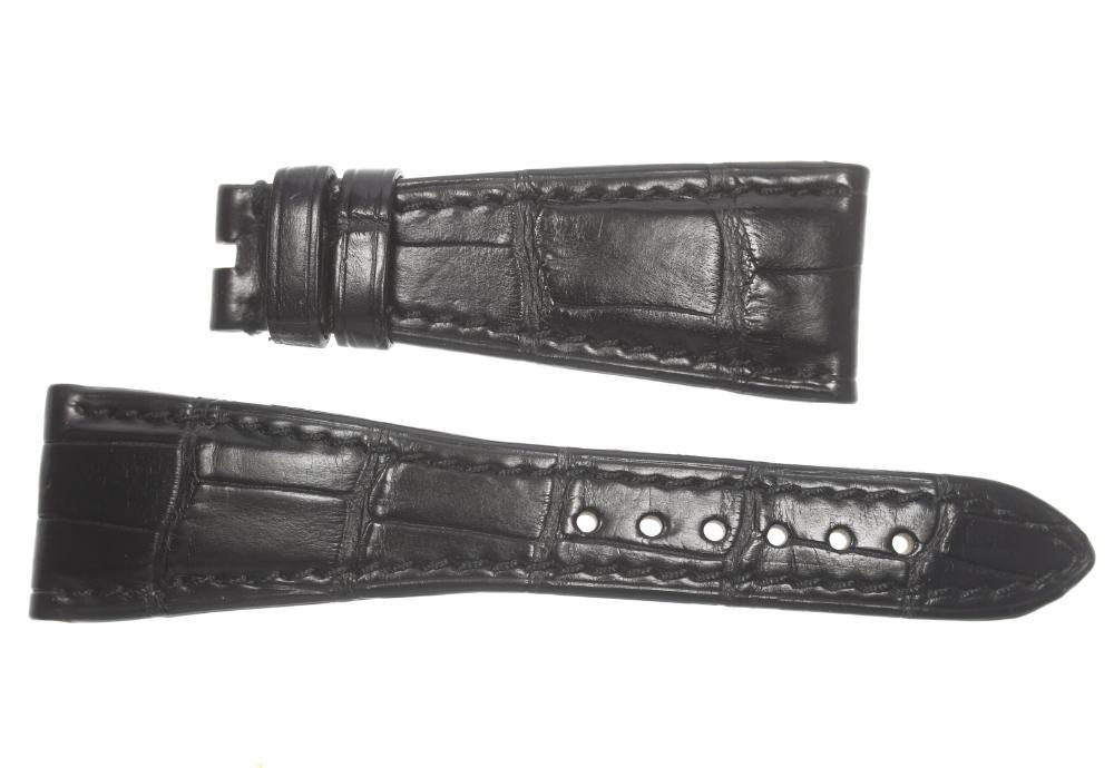 ★美品★【BVLGARI】ブルガリ ラグ幅23mm 黒 腕時計用 革ベルト【中古】