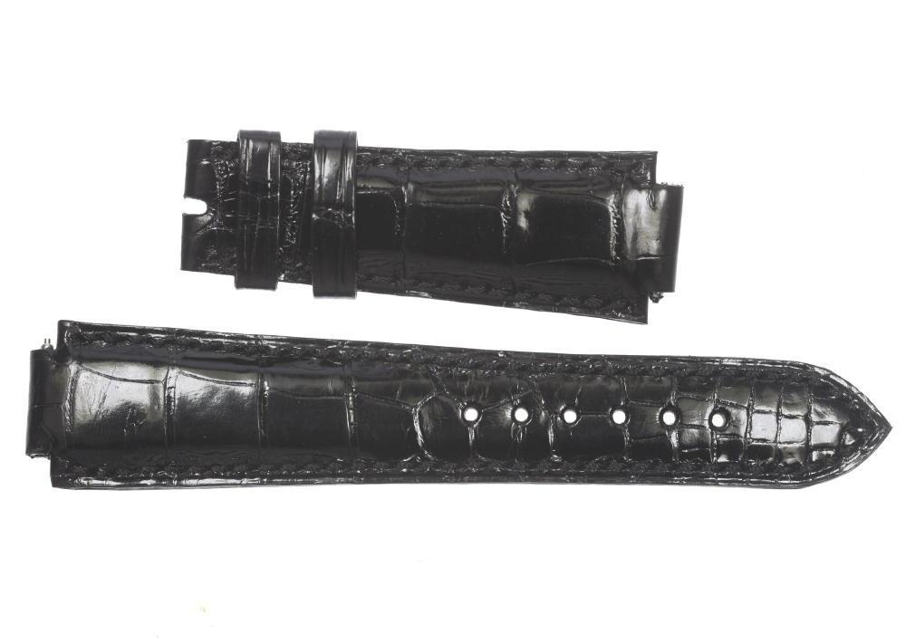★未使用品★【HARRY WINSTON】ハリーウィンストン 腕時計用 ブラック メンズ 革ベルト【中古】