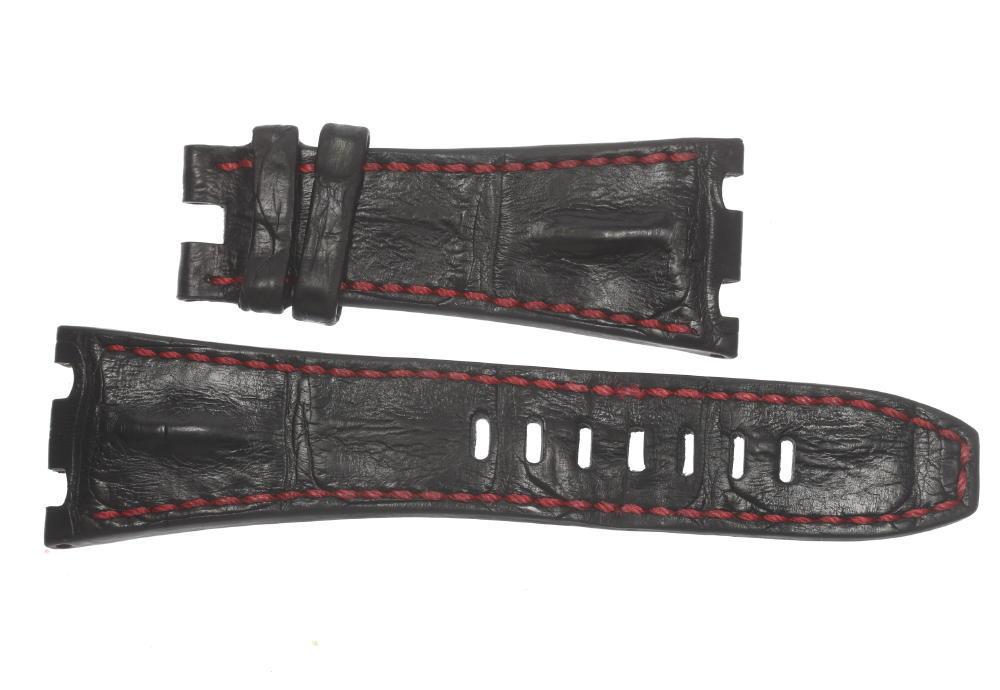★美品★【Audemars Piguet】AP オーデマ・ピゲ ラグ幅28mm 黒 メンズ 腕時計用 革ベルト【中古】