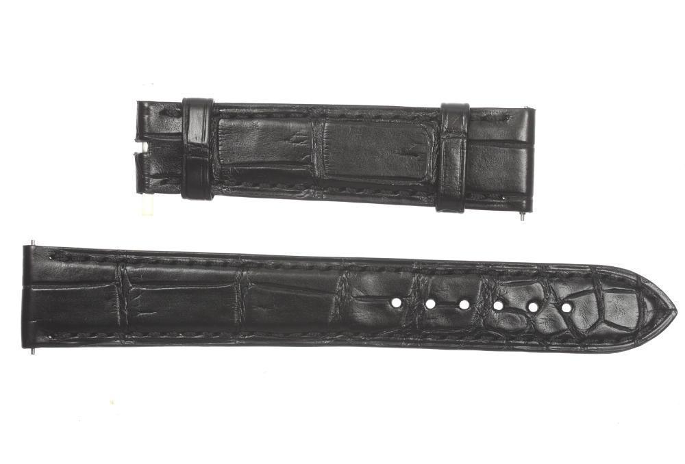 未使用品HARRY WINSTON ハリーウィンストン ラグ幅18mm 腕時計用 ブラック メンズ 革ベルト4LARj5