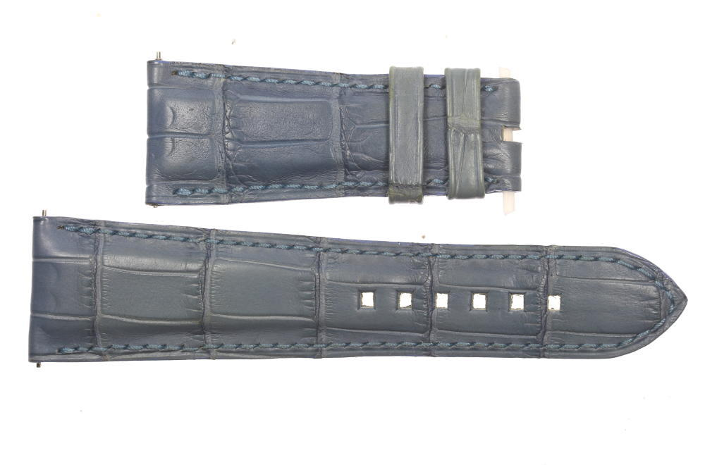 ★良品★【HARRY WINSTON】ハリーウィンストン ラグ幅18mm 腕時計用 ブルー メンズ 革ベルト【中古】