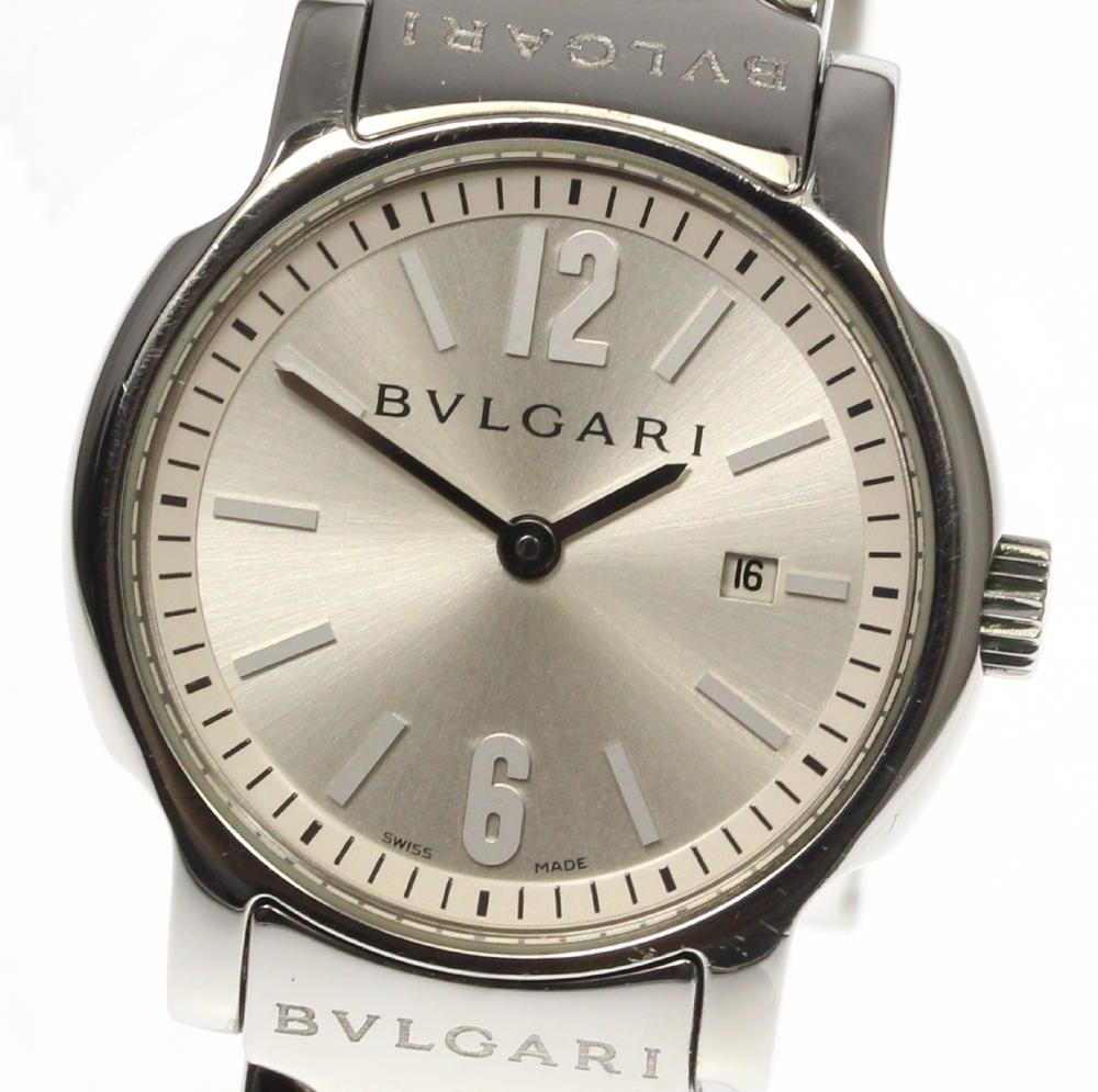 箱保付【BVLGARI】ブルガリ ソロテンポ ST29S シルバー文字盤 クォーツ レディース【中古】