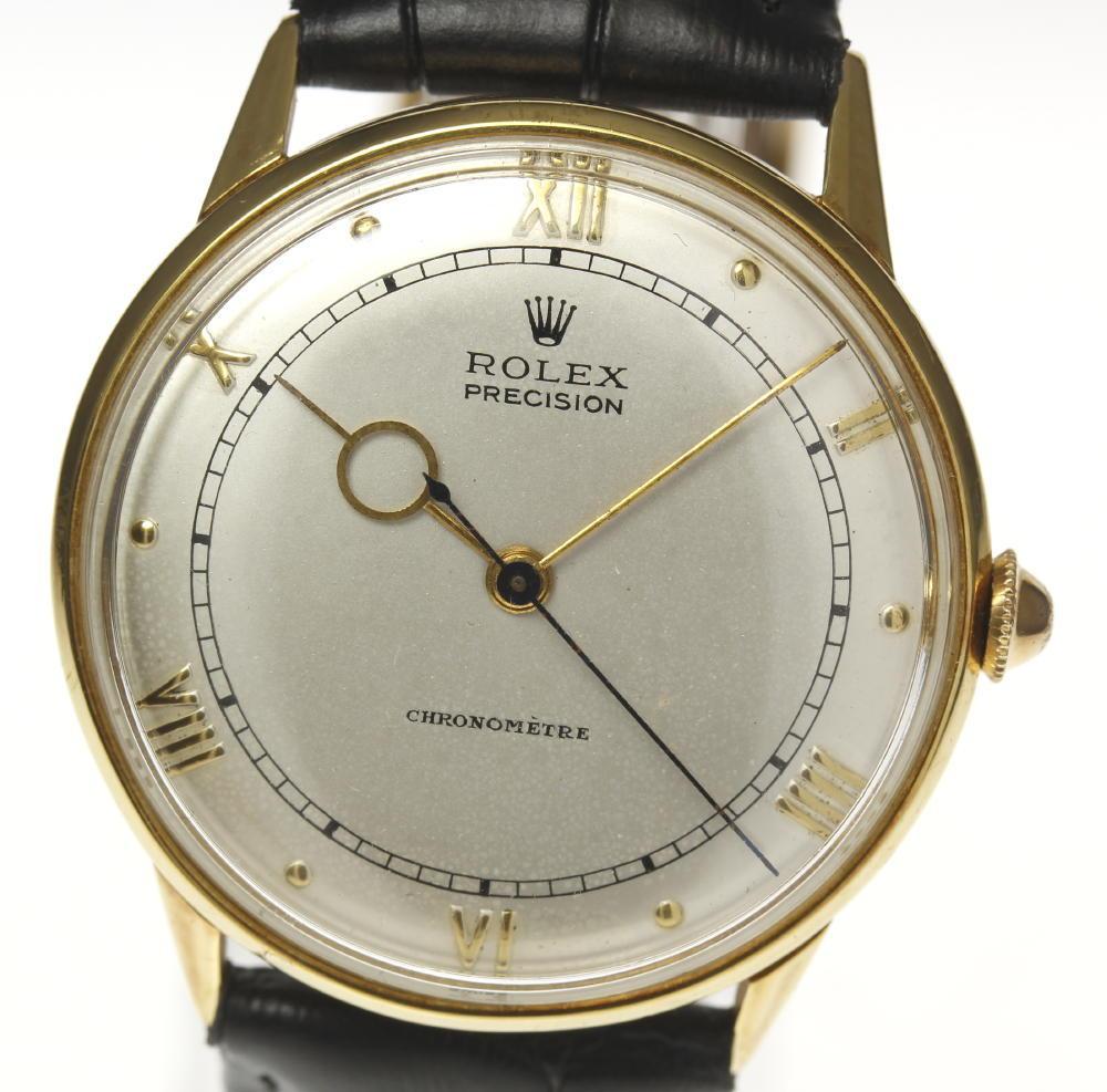 【ROLEX】ロレックス プレシジョン K18YG 手巻き 革ベルト メンズ【中古】