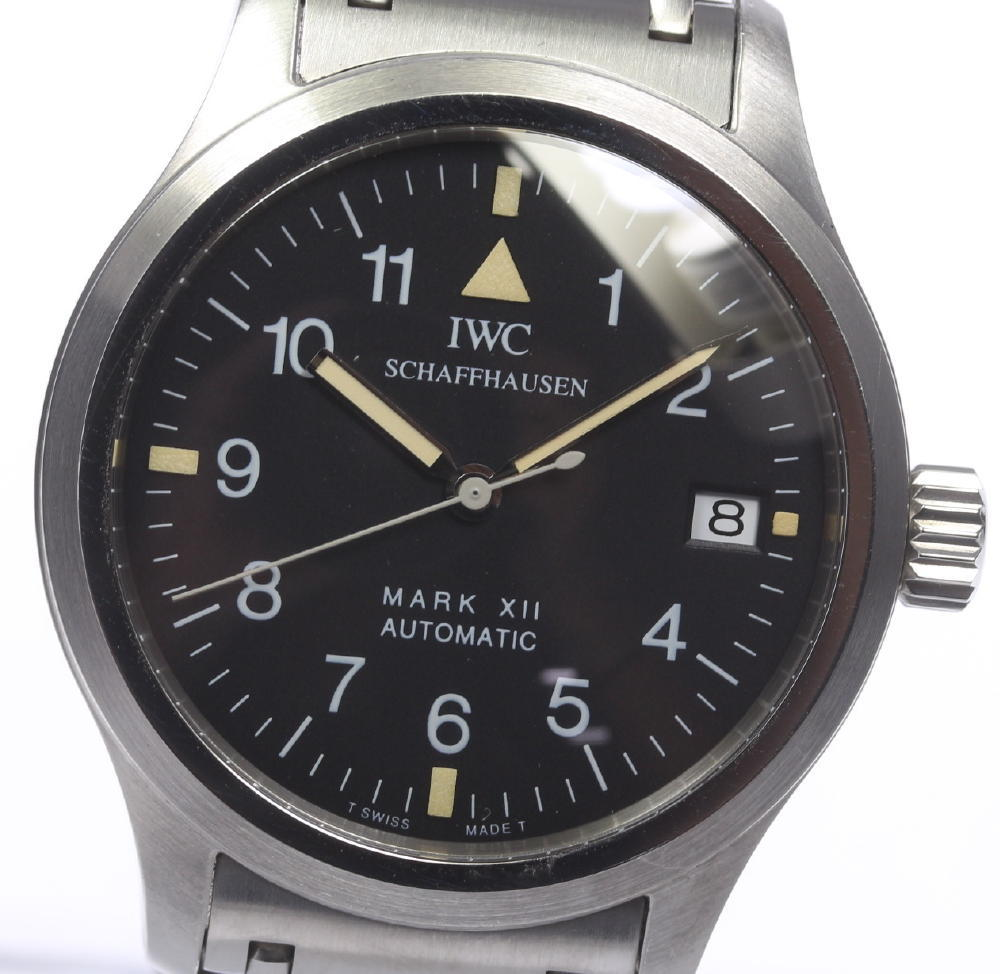 【IWC】 インターナショナル マークXII IW324102 デイト 自動巻 メンズ【中古】