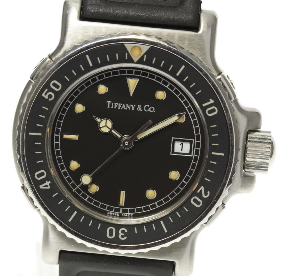 【TIFFANY&Co.】ティファニー L0719 QZ ラバーベルト レディース【中古】【190120】
