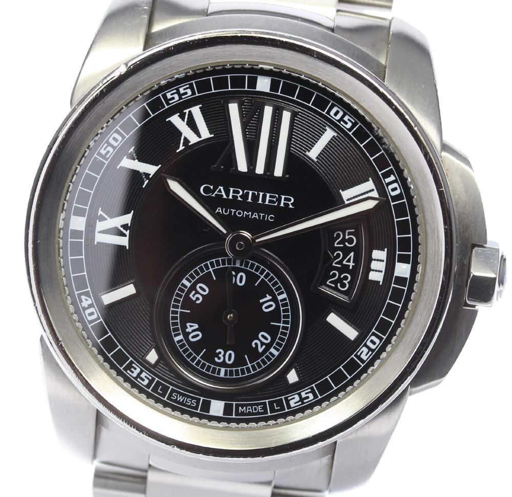 【CARTIER】カルティエ カリブルドゥカルティエ W7100016 自動巻き メンズ【中古】【190210】