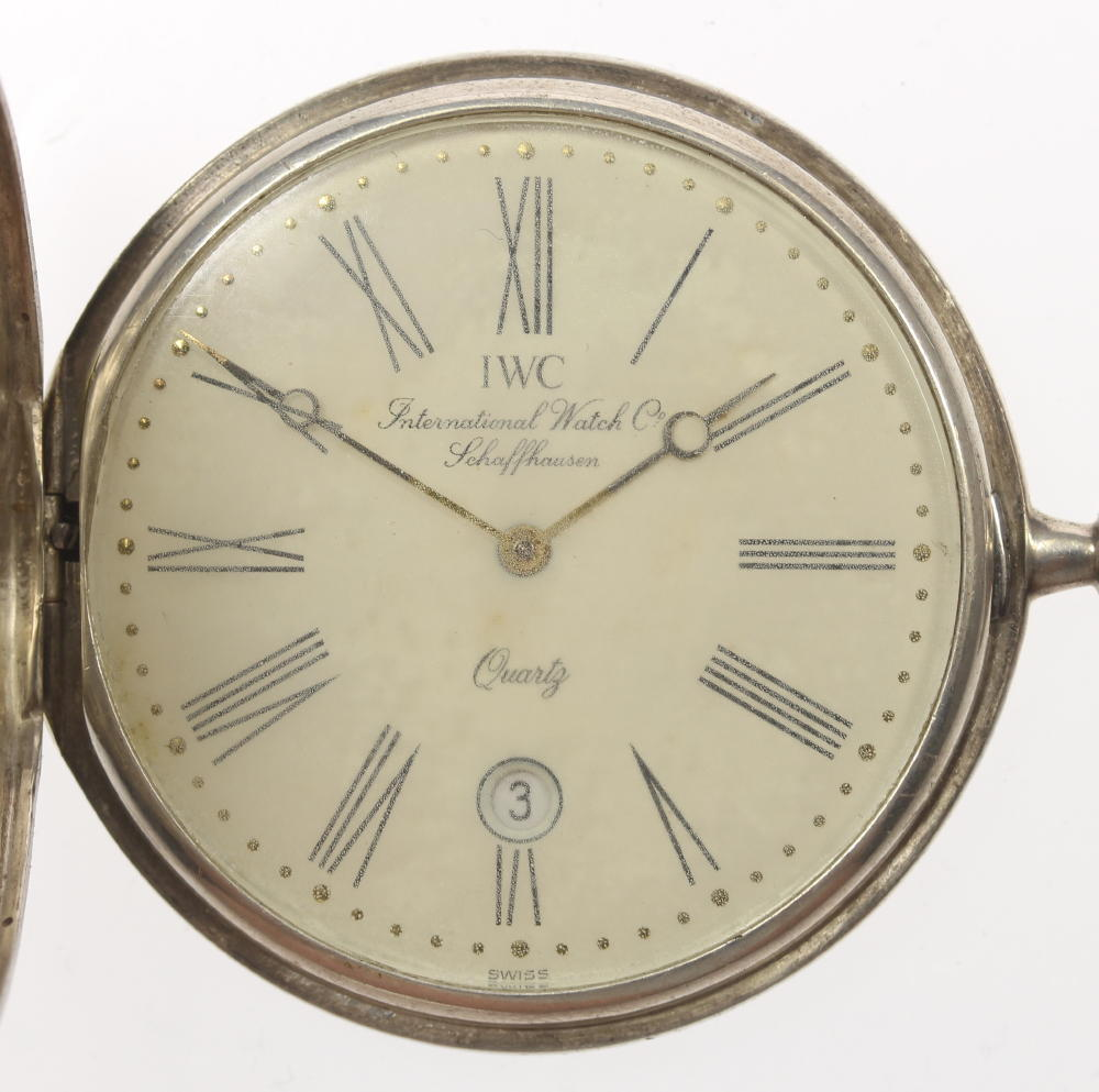 【IWC】インターナショナル アンティーク SV925 QZ 懐中時計★箱付き【中古】【190210】