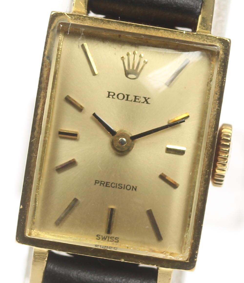 【ROLEX】ロレックス プレシジョン cal,1000 K18YG 手巻き 社外ベルト レディース【中古】【190210】