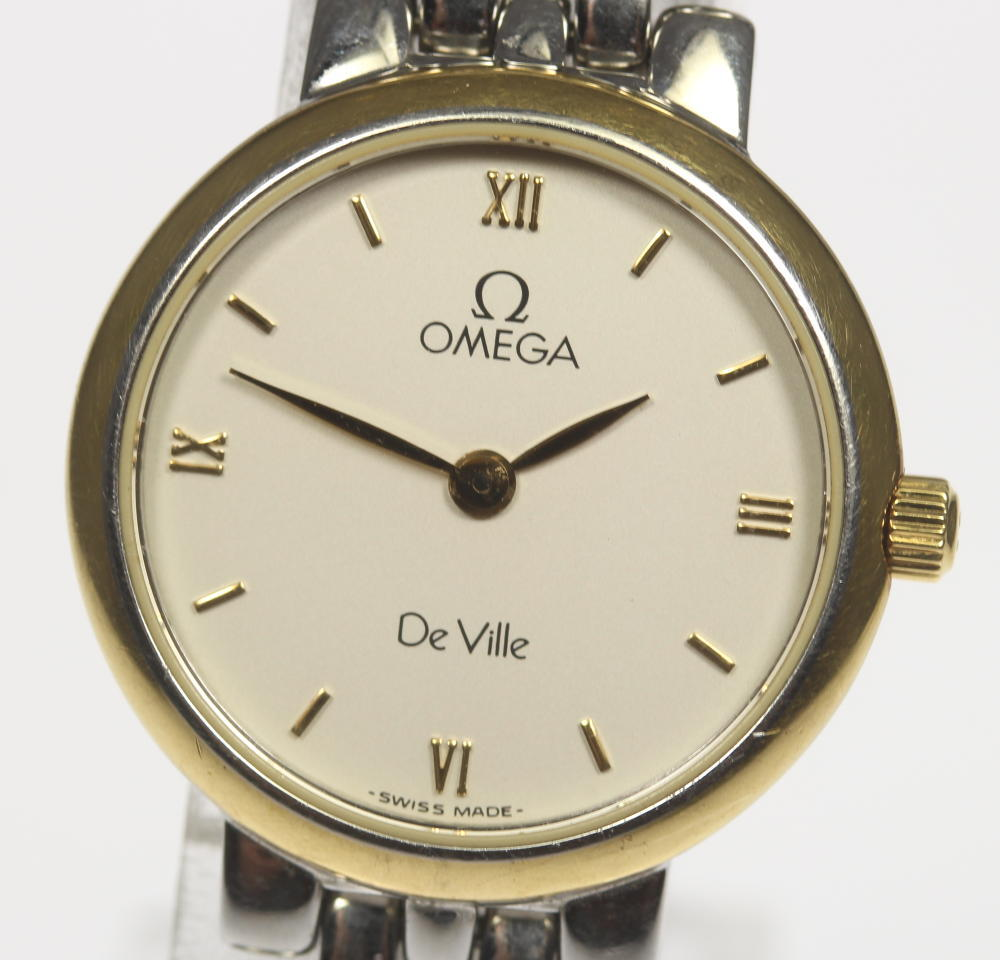 保付【OMEGA】オメガ デビル 7261.33 SS/GP コンビ クォーツ レディース【中古】【190302】