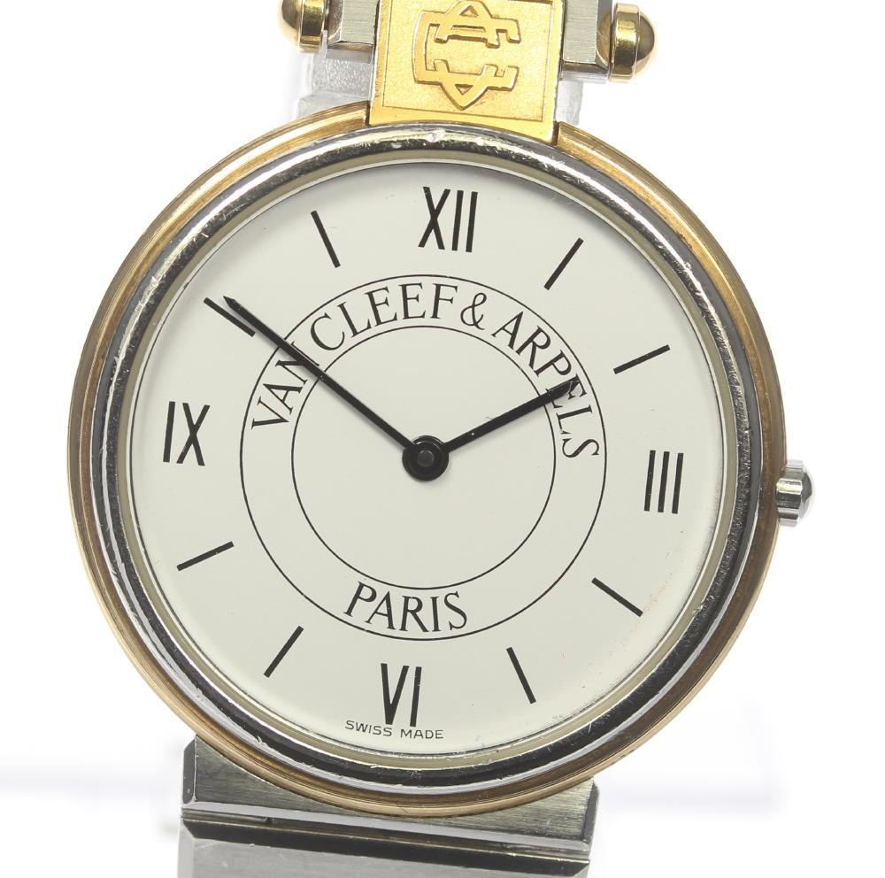 【VAN CLEEF&ARPELS】ヴァンクリーフ&アーペル ラ・コレクション ラウンド QZ メンズ【中古】【190302】