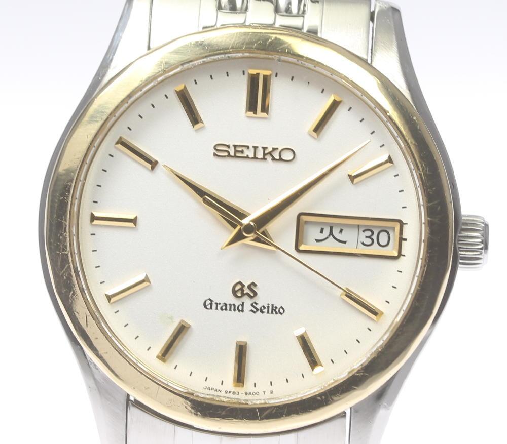 【SEIKO】GS グランドセイコー 9F83-9A10 YGベゼル デイデイト QZ メンズ【中古】【190302】