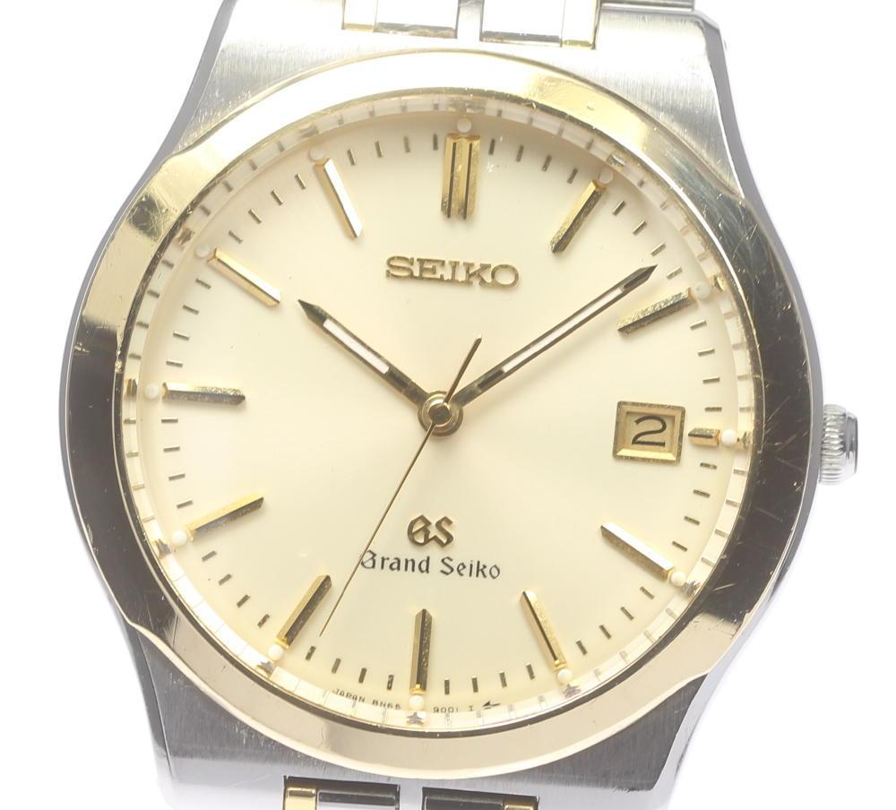 【SEIKO】GS グランドセイコー 18KTベゼル 8N65-9000 QZ メンズ【中古】【190302】
