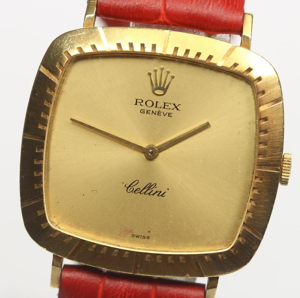 【ROLEX】 ロレックス チェリーニ K18YG Cal.1600 手巻き 革ベルト メンズ【中古】【190302】