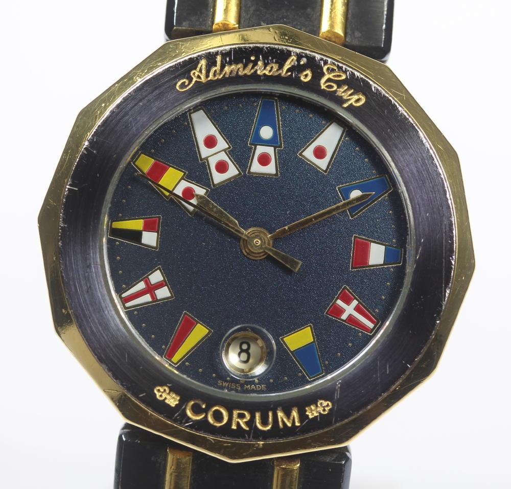 1939c7209475 【CORUM】コルムアドミラルズカップ39.610.21V-52QZレディース【中古】 価格帯 良い販売