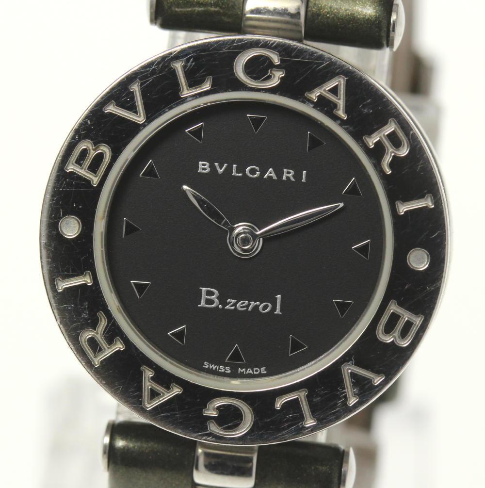 【BVLGARI】ブルガリ B-ZERO1 BZ22S ブラック文字盤 クォーツ レディース【中古】【190321】