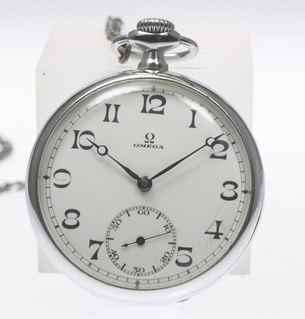 ※訳あり品【OMEGA】オメガ スモセコ 手巻き 49mm 懐中時計【中古】【190321】