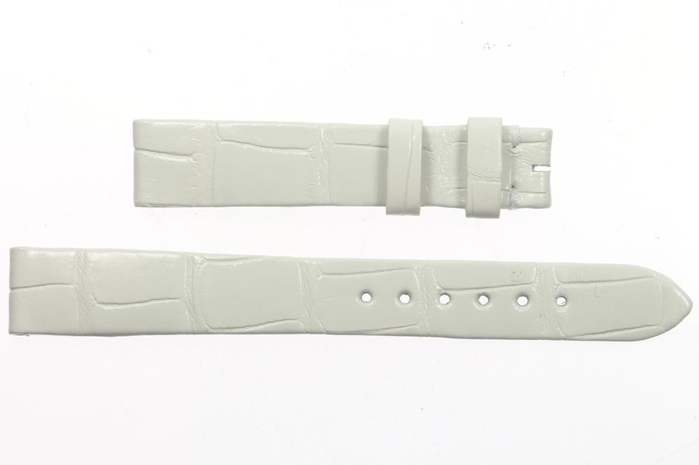 ★極美品★【HARRY WINSTON】ハリーウィンストン ラグ幅14mm 白 腕時計用 レディース 革ベルト【中古】