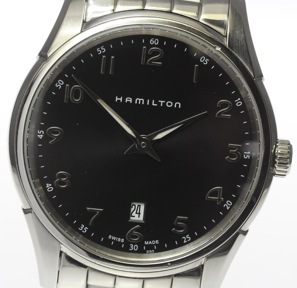 箱付【HAMILTON】ハミルトン ジャズマスター シンライン H385110 クォーツ メンズ【中古】