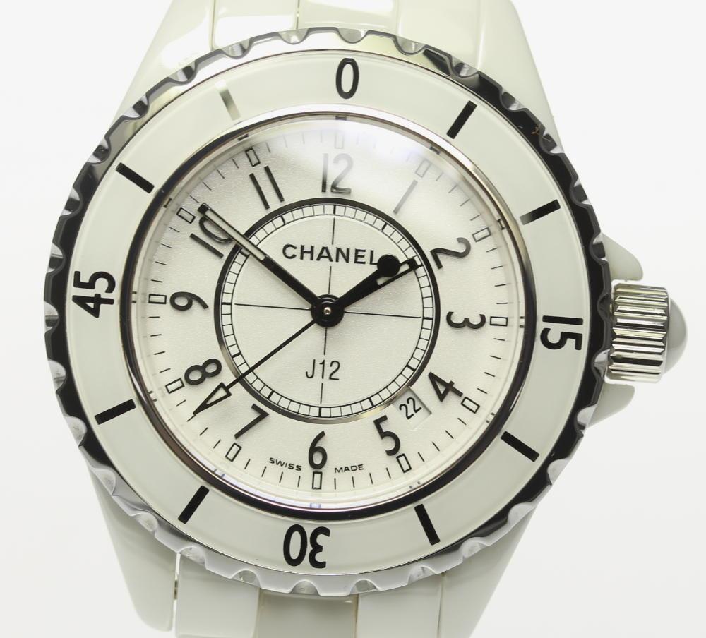 【CHANEL】 シャネル J12 H0968 ホワイトセラミック 33mm クォーツ レディース【中古】