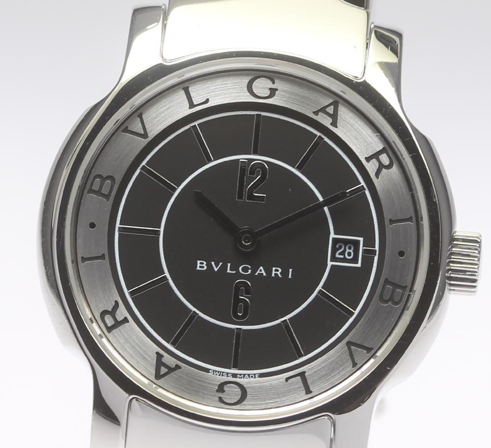 良品【BVLGARI】ブルガリ ソロテンポ ST29S ブラック文字盤 クォーツ レディース【2023】【中古】