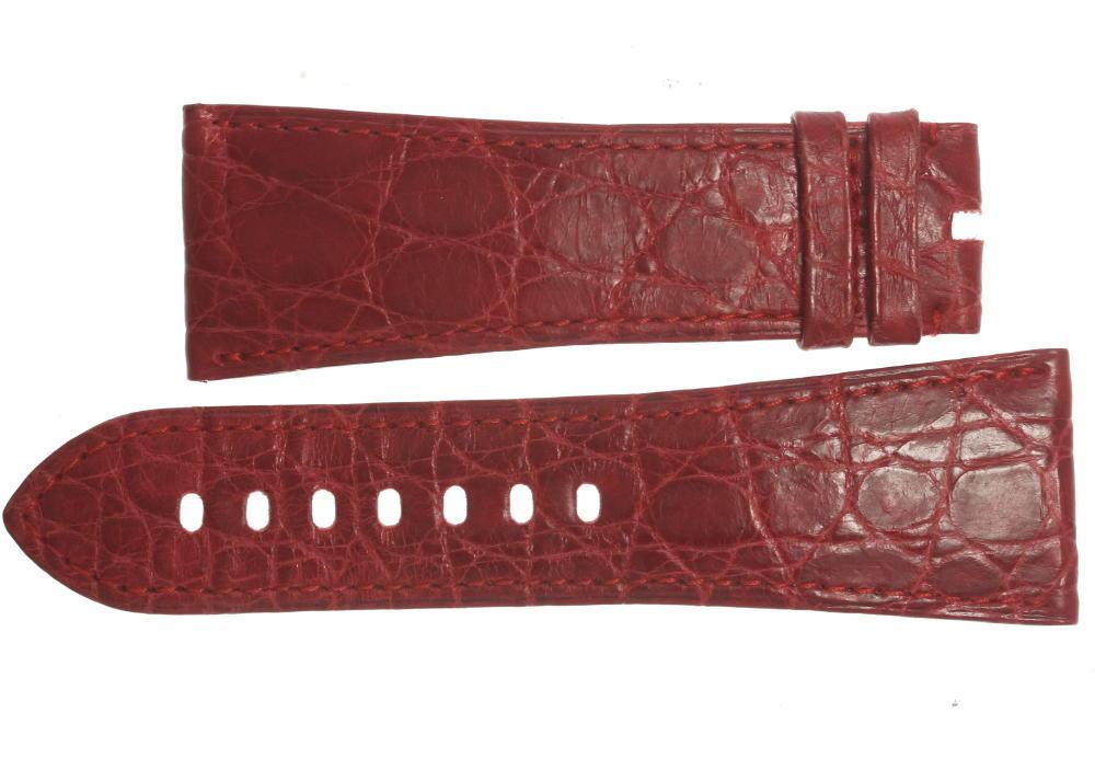 ★極美品★【CARTIER】カルティエ ディバン ラグ幅29mm レッド メンズ 腕時計用 革ベルト【中古】