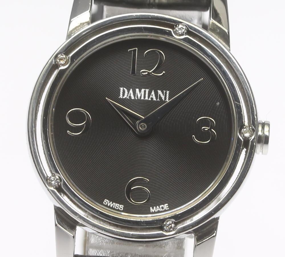 【DAMIANI】ダミアーニ D・SIDE ブラッドピッドモデル 5Pダイヤ クォーツ レディース【中古】