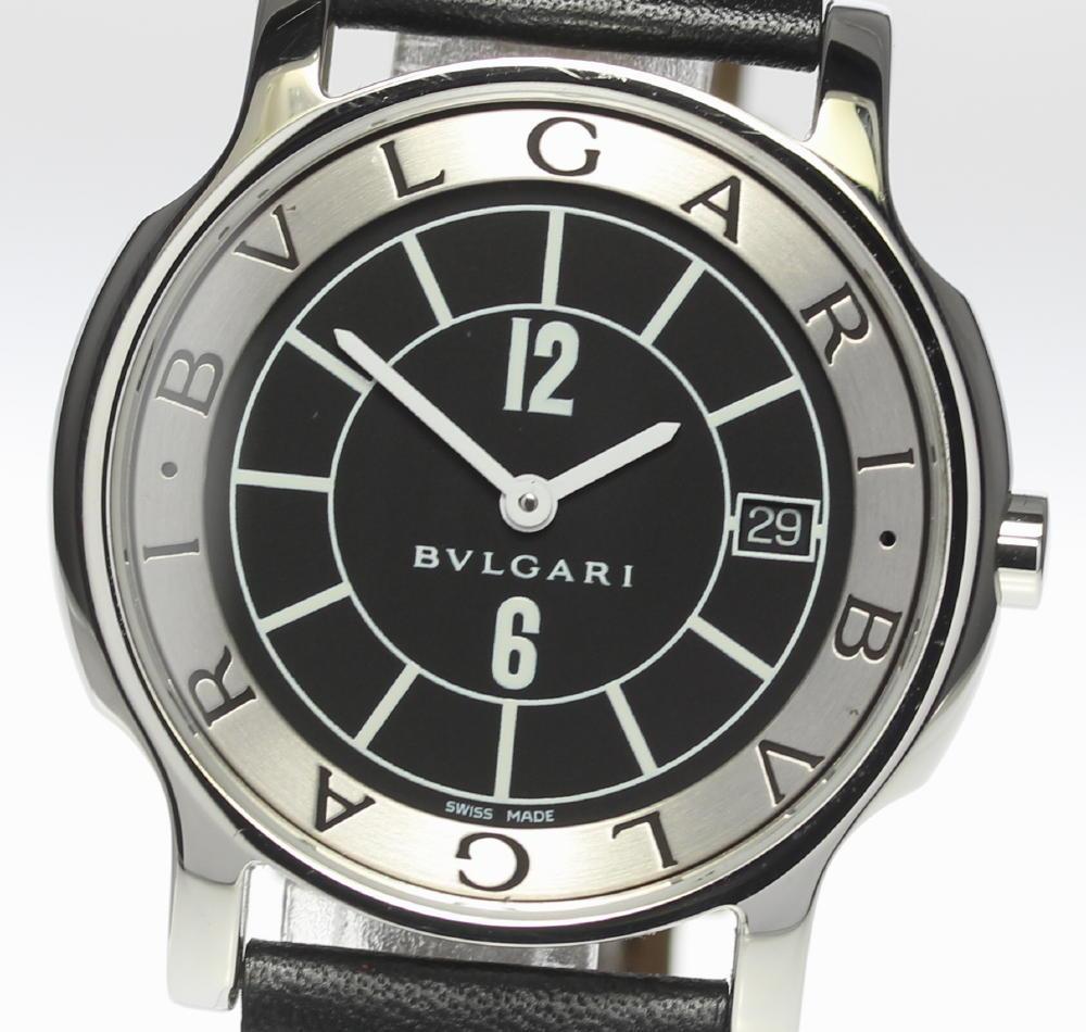 ★美品★【BVLGARI】ブルガリ ソロテンポ ST35S クォーツ メンズ【中古】