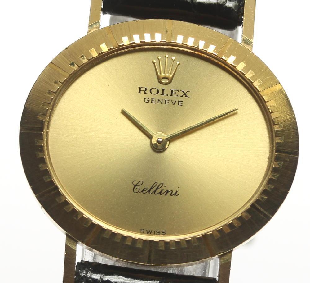 【ROLEX】 ロレックス チェリーニ K18YG cal.1601 社外革ベルト 手巻き レディース【中古】