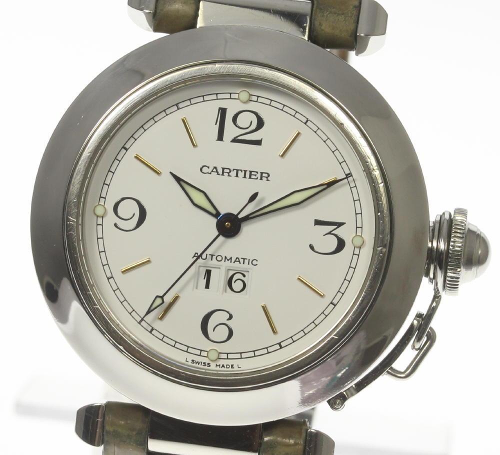 ★良品★【Cartier】カルティエ パシャC ビッグデイト 自動巻き ボーイズ【2023】【中古】