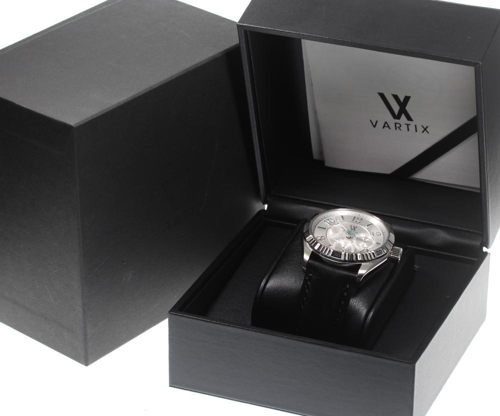 極美品 箱保 VARTIX ヴァティックス WA3VN パワーリザーブ 自動巻き メンズ 純正革ベルト5jR34LAq