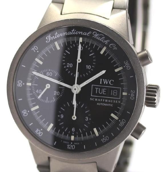 official photos c7c14 98ce8 IWC GST chronograph IW370703 self-winding watch men box guarantee memo
