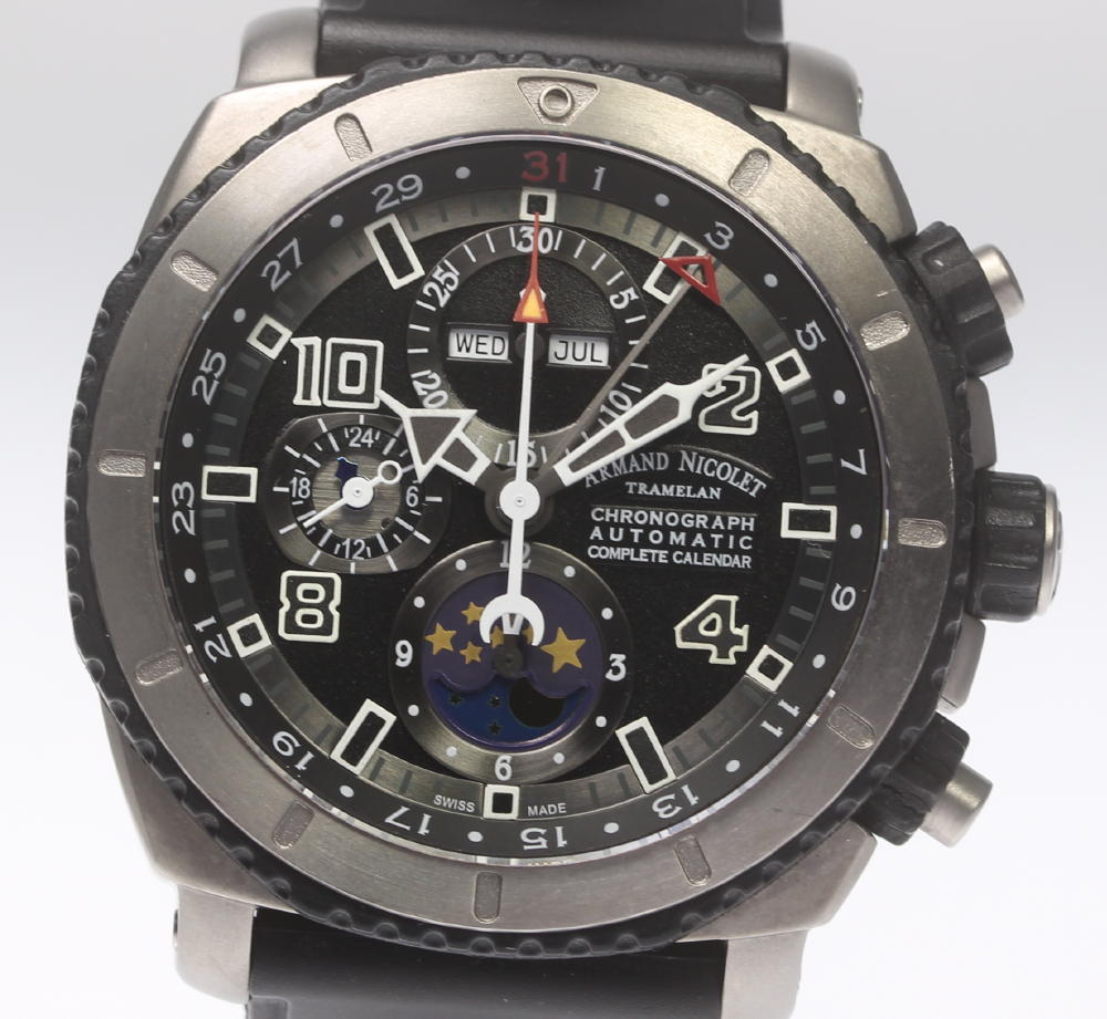 【ARMAND NICOLET 】アルマン・ニコレ T618A-GR-G9610 S05 クロノグラフ トリプルカレンダー ムーンフェイズ メンズ【ev05a】