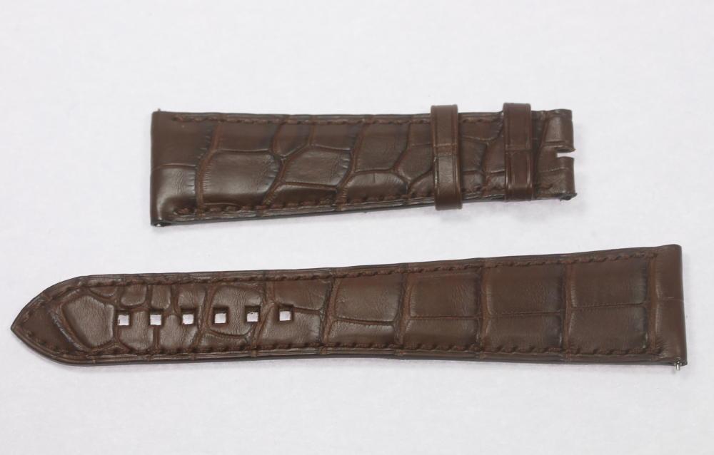 ★未使用品★【HARRY WINSTON】ハリーウィンストン ブラウン ラグ幅24mm 腕時計用 革ベルト【中古】【190809】