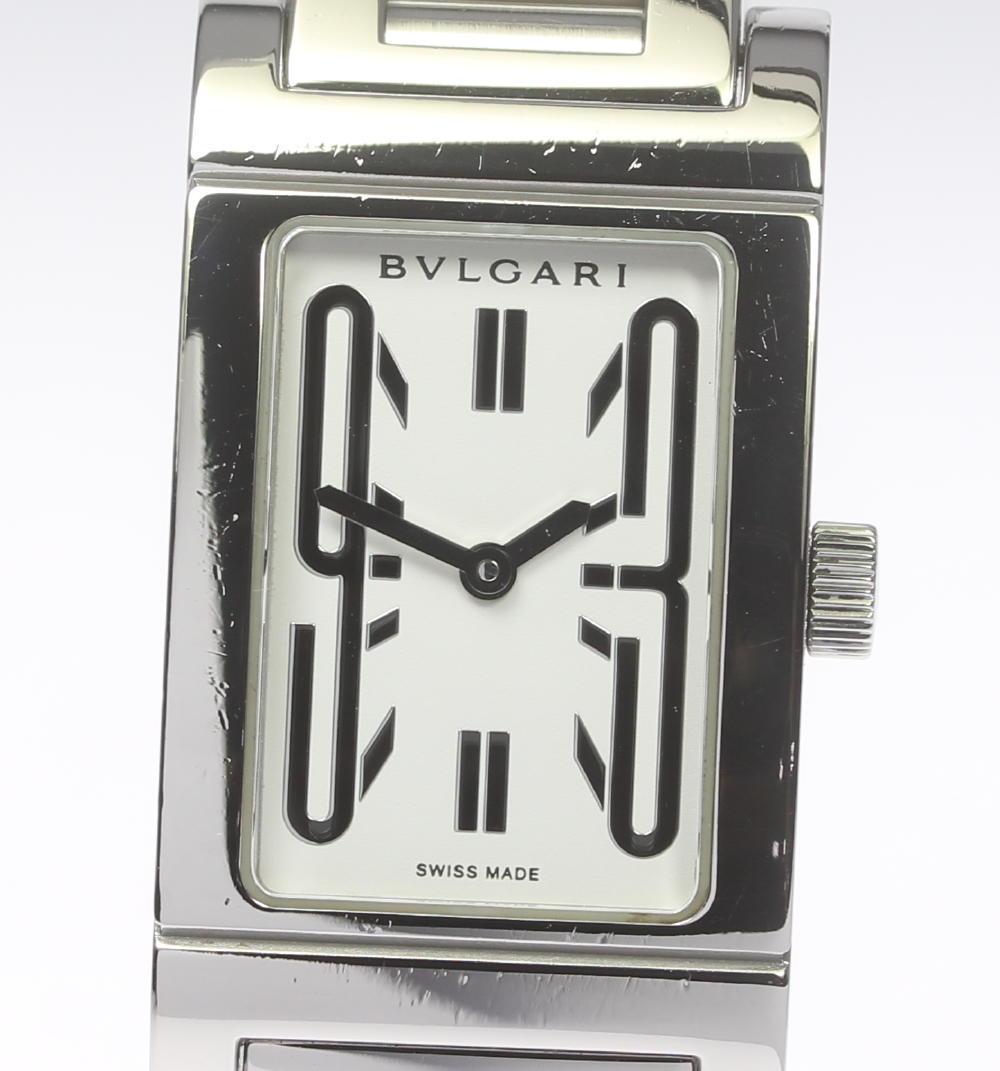 【BVLGARI】ブルガリ レッタンゴロ RT39S クォーツ 白文字盤 レディース【2024】【中古】