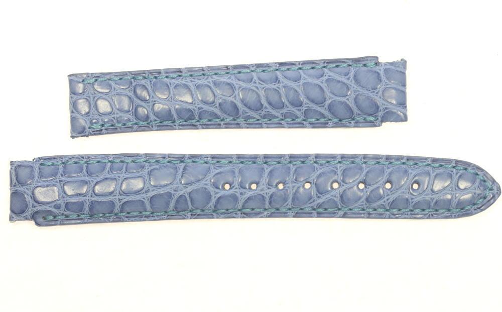 ★未使用品★【Chopard】ショパール ラグ幅16mm ブルー レディース 腕時計用革ベルト【ev10】【中古】