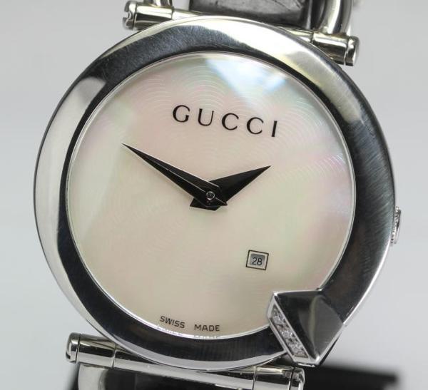 Gucci 122.5 キオドダイヤシェル QZ Lady's