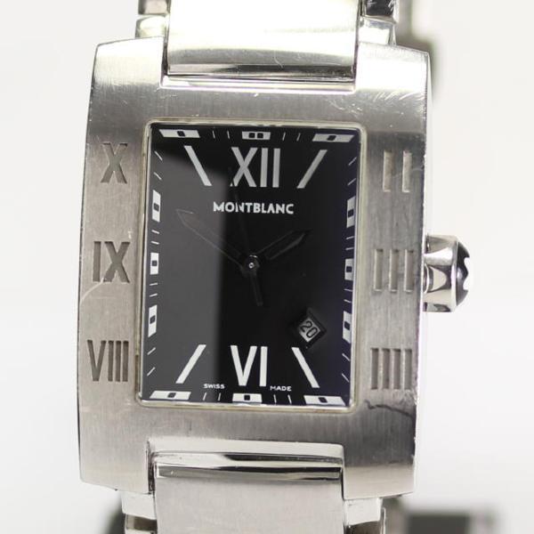 Mont Blanc profile 7048 black clockface quartz men