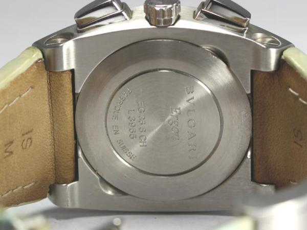 ブルガリ エルゴン EG35SCH クロノ 21P シェル 革ベルト ATrQCotBshdx