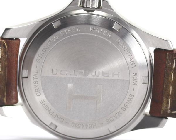 Junk product Hamilton khaki H644510 D date QZ men