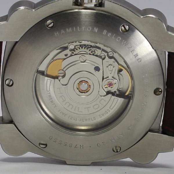 Hamilton khaki below zero H785550 date SS self-winding watch men