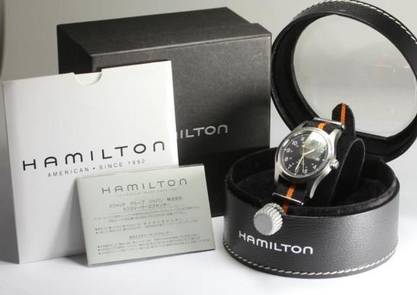 Box, 保付 Hamilton khaki 041330 AT nylon belt men