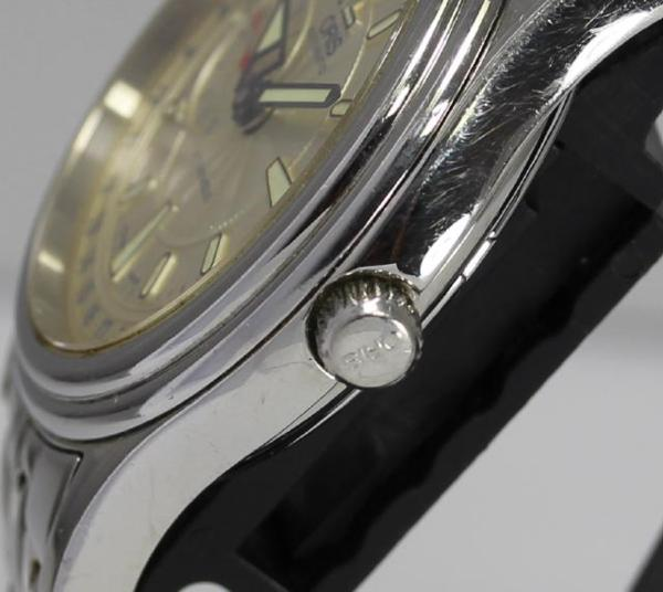 Cages pointer date 7476 スモセコ self-winding watch men