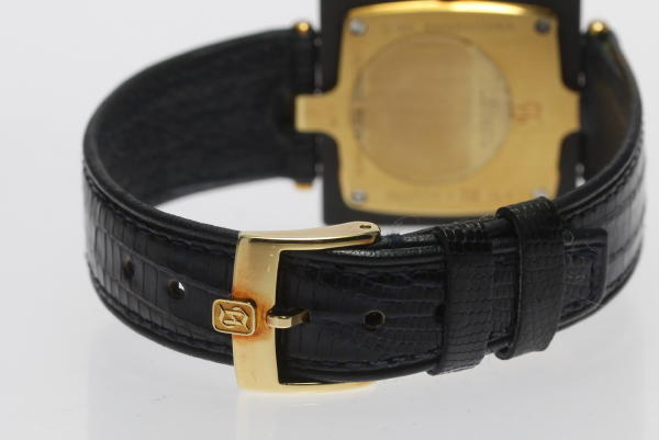 H Sterne K18YG 1P QZ leather belt men