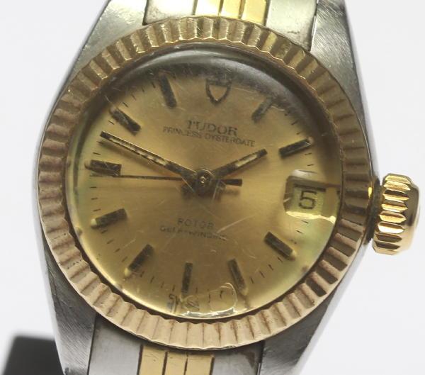 アンティーク 【チュードル】TUDOR プリンセスオイスターデイト コンビ 92313 Cal.2671 レディース腕時計 【18015】【中古】