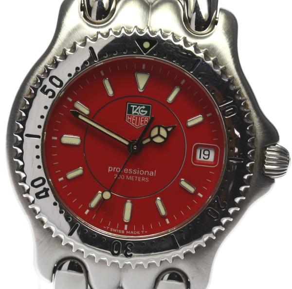 タグホイヤーセルシリーズ WG1119R red dial men