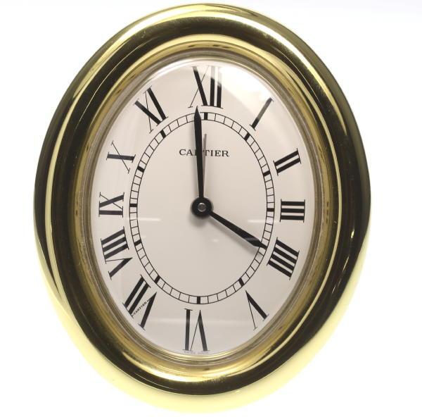 Cartier Alarm Clock Gold Quartz Table Clock☆ ...