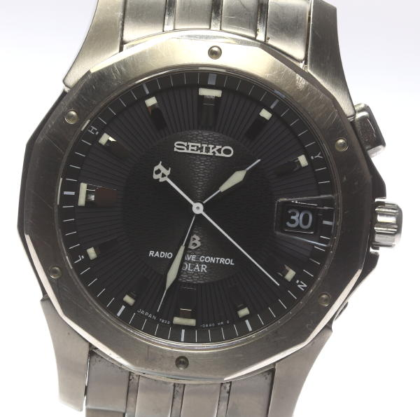 SEIKO Brights SAGY003 7B22-0AC0 solar electric wave date Boys